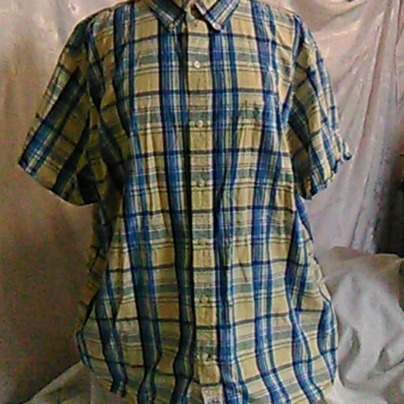 729bcba888c Izod Other - IZod Saltwater Short Sleeve Button Up Plaid Shirt
